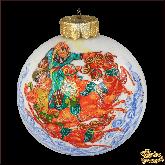 Ёлочный шар ручной работы Русская тройка