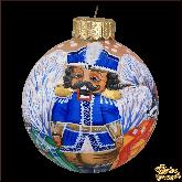 Ёлочный шар ручной работы Щелкунчик