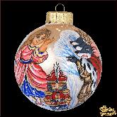 Ёлочный шар ручной работы Маша и Мышиный король