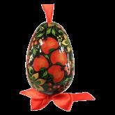 Пасхальное яйцо деревянное с ручной росписью Хохлома. Яблоня