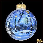 Ёлочный шар ручной работы Зимний парк