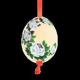 Пасхальное яйцо куриное на ленте Розы