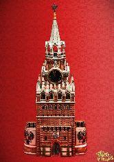 Фарфоровый штоф Башня Кремля (цветная с золотом)