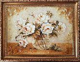 Белые розы натюрморт из янтаря