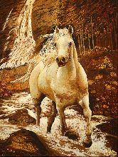 Картина из янтаря Белый конь