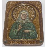 Блаженная старица Матрона Московская, Живописная икона, 19 Х25