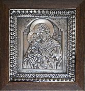 Икона Богородица Владимирская, рамка классическая, 125х140