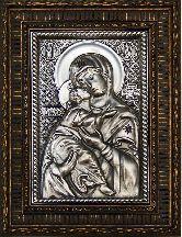 Икона Богородица Владимирская, рамка резная, 85х130
