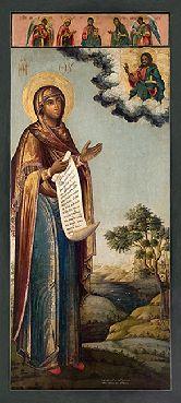 Купить икону Богородица Боголюбская арт ББ-01 18х8
