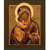 Цена иконы Богородица Феодоровская арт БФ-04 12х10