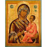 Цена иконы Богородица Тихвинская арт БТ-02 36х28