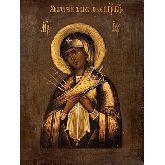Стоимость иконы Богородица Умягчение злых сердец арт БУЗ-01 12х8,5
