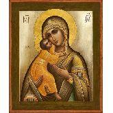 Цена иконы Богородица Владимирская арт БВ-30 12х10