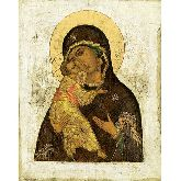 Цена иконы Богородица Владимирская арт БВ-02 12х9,5