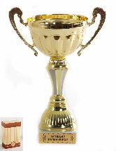 Кубок подарочный Чаша с рельефными ручками Лучшему начальнику 22см