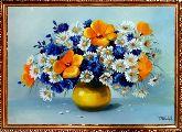 Букет красивых полевых цветов