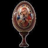 Пасхальное яйцо деревянное с наклейкой  Божья Матерь Жировицкая