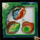 Ёлочные украшения из стекла Набор Морская радуга.