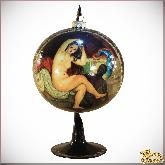 Ёлочное украшение из стекла Верхушка Новогодняя бардовая.