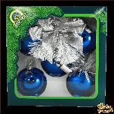 Ёлочное украшение из стекла Гирлянда Алиса синяя.