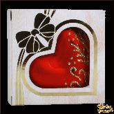 Ёлочное украшение из стекла Сердечко Шанель.