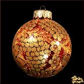 Ёлочное украшение ручной работы из стекла Верхушка Часы (золотые).