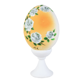Пасхальное яйцо куриное на подставке Розы