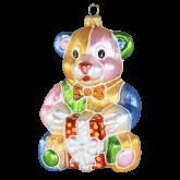 Ёлочная игрушка из Польши Мишка с подарком