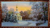 Церковь в зимнем лесу