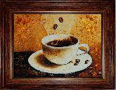 Чашка кофе картина из янтаря