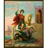 Купить икону Чудо Георгия о змие ГП-04-1 18х15