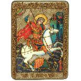Чудо святого Георгия о змие, Аналойная икона, 21 Х29