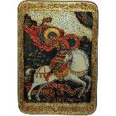 Чудо святого Георгия о змие, Большая икона, 29 Х42