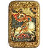 Чудо святого Георгия о змие, Настольная икона, 10 Х15