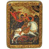 Чудо святого Георгия о змие, Подарочная икона, 15 Х20