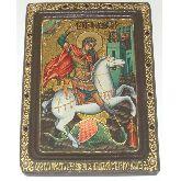 Чудо святого Георгия о змие, Живописная икона, 21 Х29