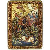 Чудо великомученика Димитрия Солунского о царе Калояне, Аналойная икона, 21 Х29