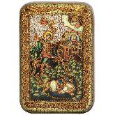 Чудо великомученика Димитрия Солунского о царе Калояне, Настольная икона, 10 Х15