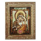 Икона Божией Матери Чухломская с янтаря