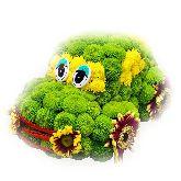 """Игрушка из цветов """"Цветочный автомобиль"""""""