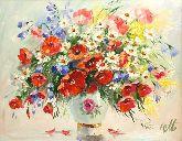 """Картина на холсте """"Яркий букет полевых цветов"""""""