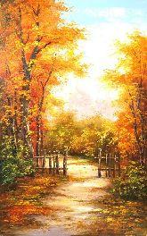 """Картина на холсте """"Яркие краски осени"""""""