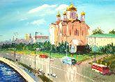 """Картина на холсте """"Храм Христа спасителя. Москва"""""""