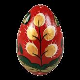 Пасхальное яйцо деревянное с ручной росписью Верба