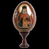 Пасхальное яйцо деревянное с наклейкой  Святой Лука