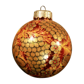 Ёлочный шар ручной работы 100мм  Хохлома. Ягоды