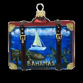 Ёлочная игрушка из Польши Чемодан туриста. Багамы