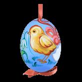 Пасхальное яйцо куриное на ленте Цыпленок