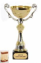 Кубок подарочный Чаша золотая с серебр.рельефными ручками Золотая голова компании