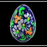 Пасхальное яйцо деревянное с ручной росписью Цветы